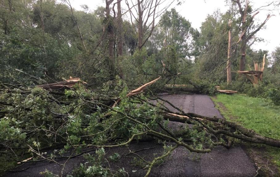 Verderop in Emmeloord kwam het tot een andere tornado en ook in Fochteloërveen kwam waarschijnlijk korte tijd een hoos voor. Foto: Joseph Pattiapon.